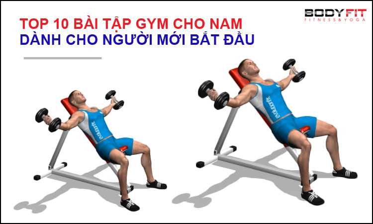 10 bài tập gym cho nam mới tập