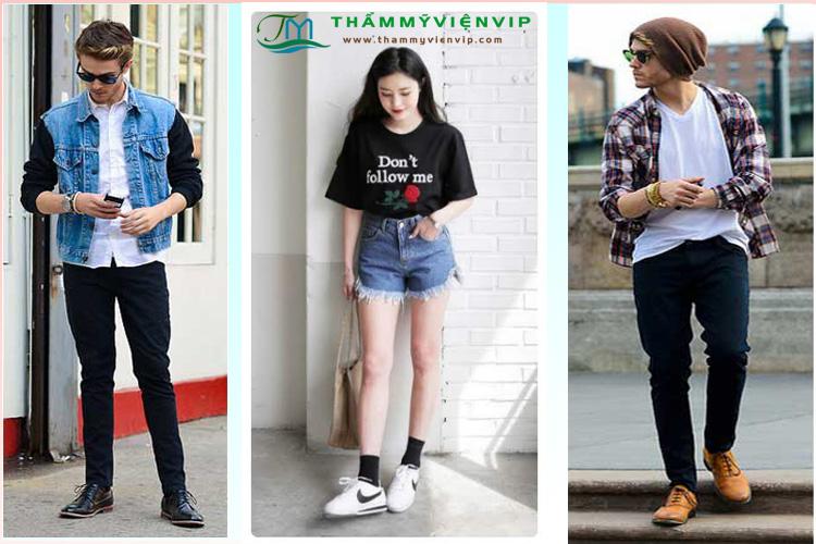 Cách phối màu giày với quần áo